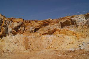 Natursande in hessischer Sandgrube