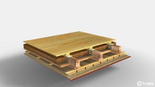 Holzrahmenbau Deckenaufbau